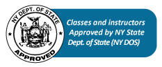 Classes and Instructors Approved by NY State Dept. of State (NY DOS)